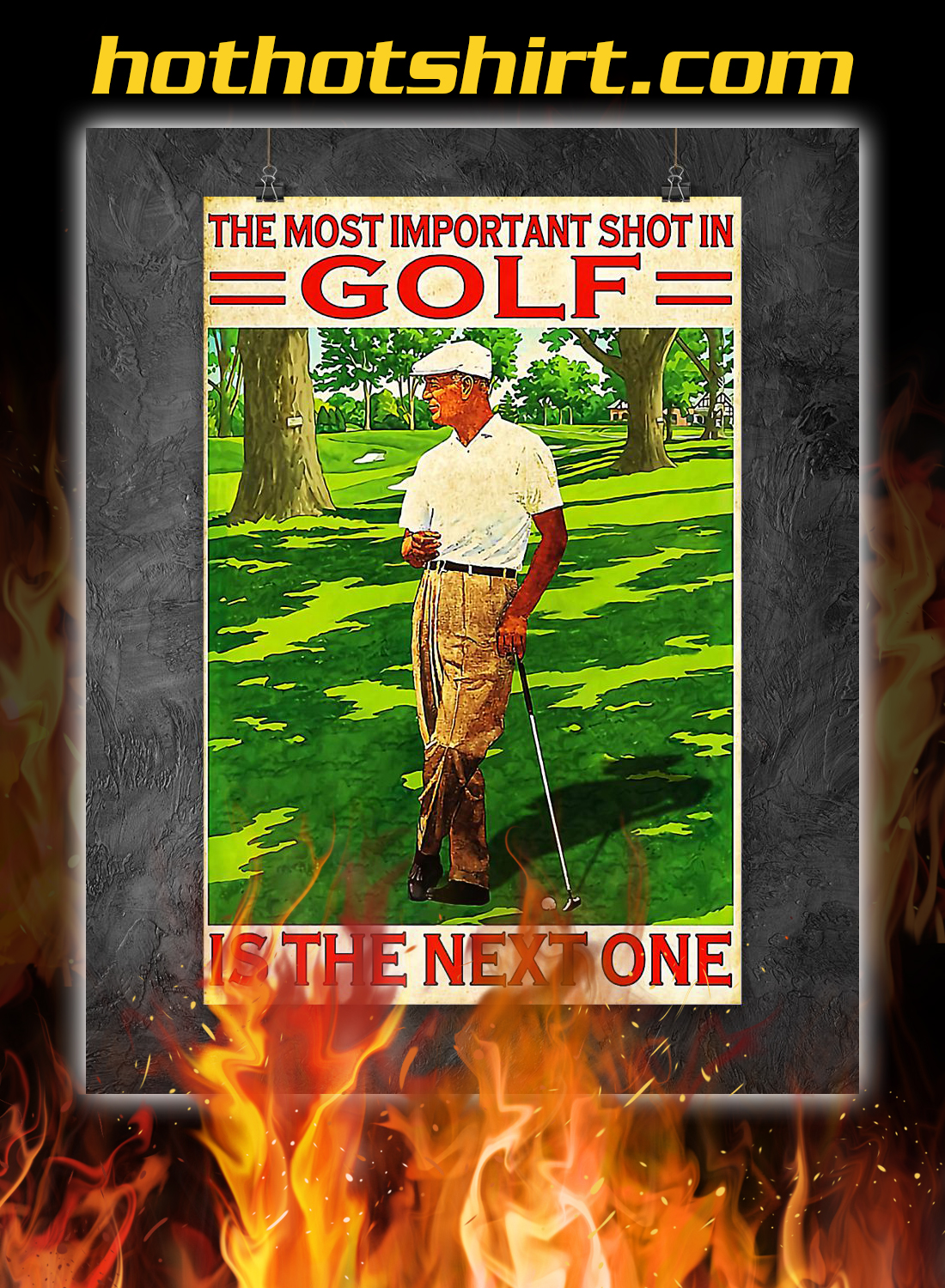 The most important shot in golf poster 1