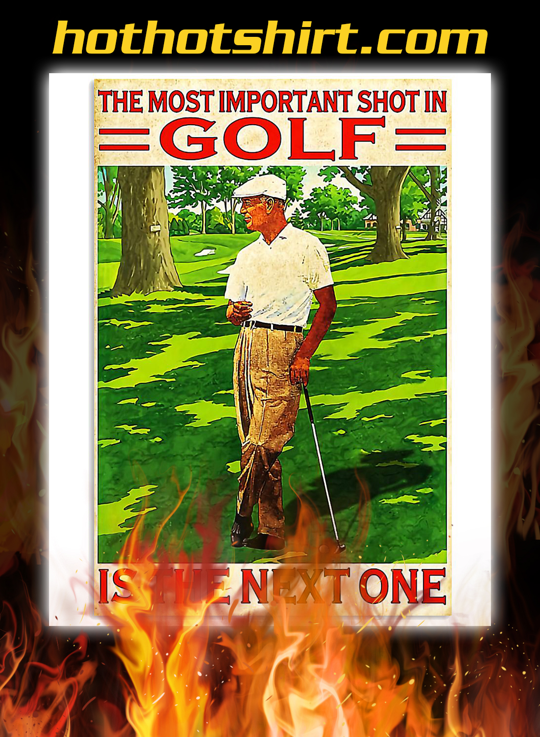 The most important shot in golf poster 3