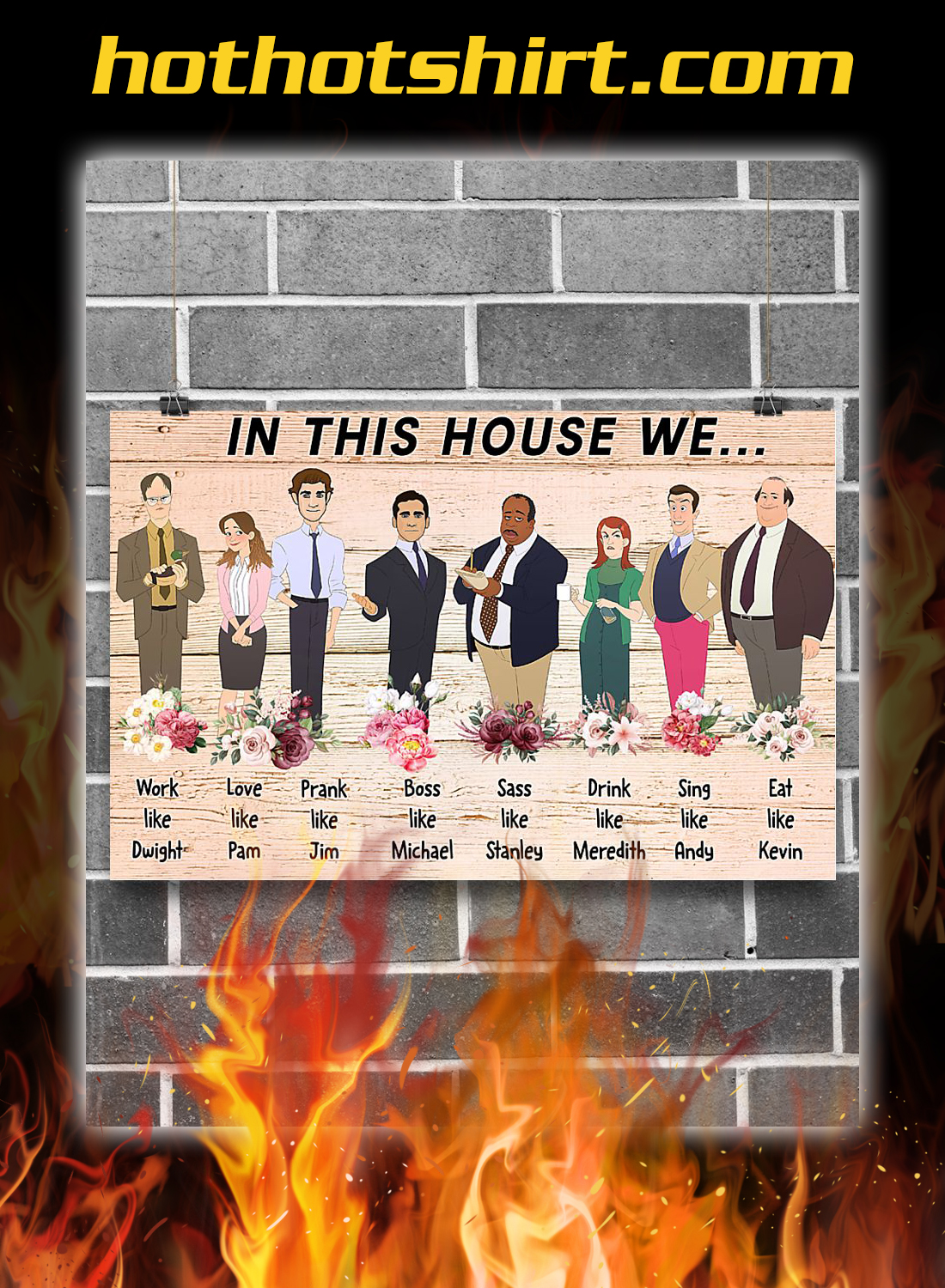 The office In this house we poster 1