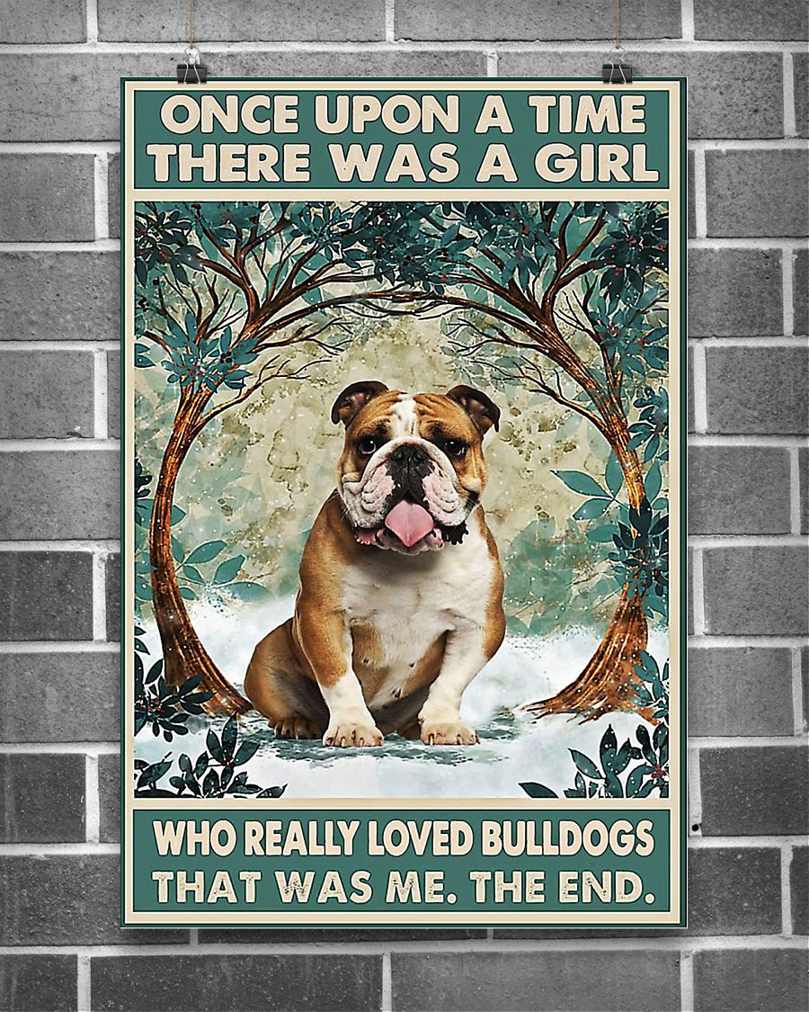 There was a girl who really loved bulldogs poster 2