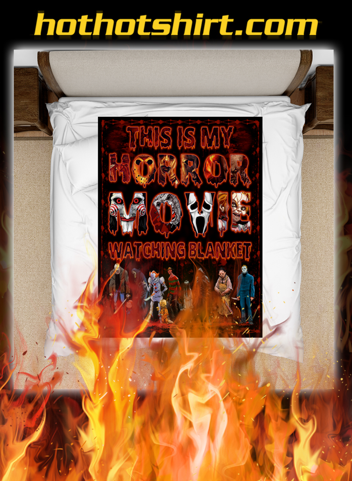 This is my horror movie watching blanket- large