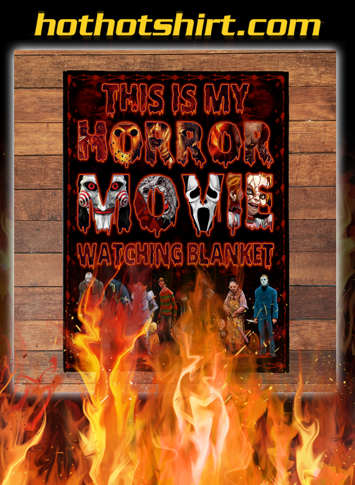 This is my horror movie watching blanket- small