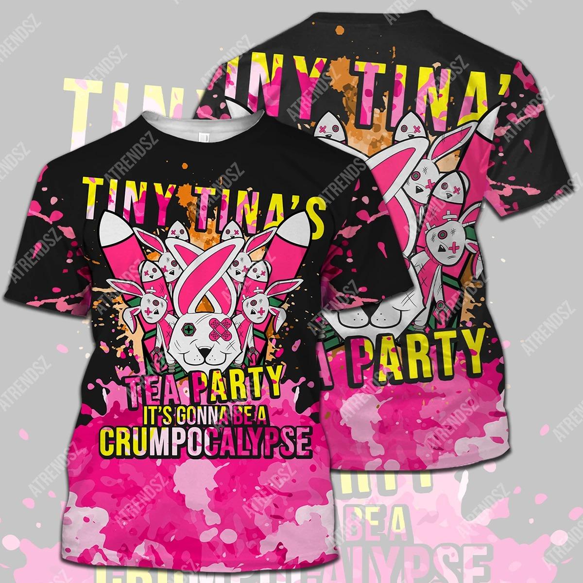 Tiny tina's tea party 3d all over print hoodie, shirt 1
