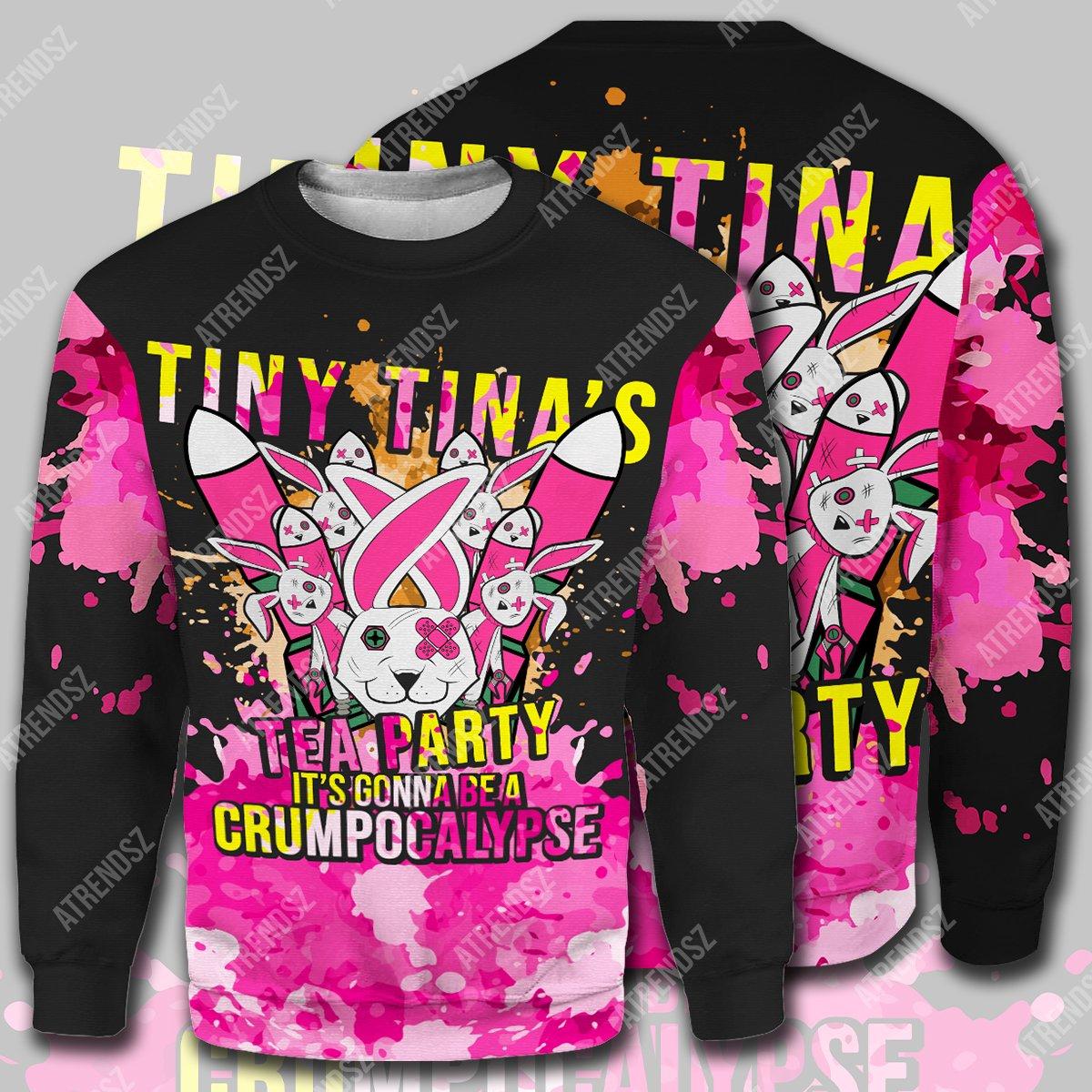 Tiny tina's tea party 3d all over print hoodie, shirt 2