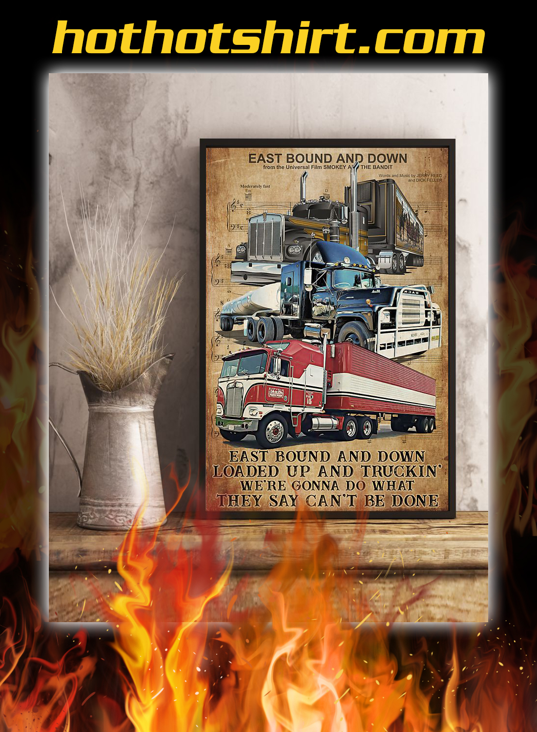 Trucker east bound and down poster 2