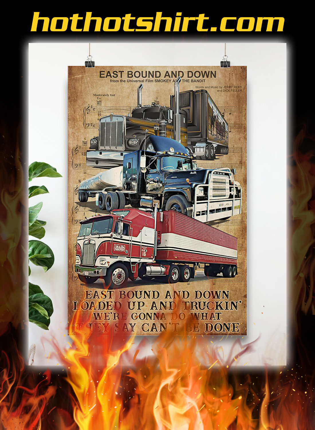 Trucker east bound and down poster 3