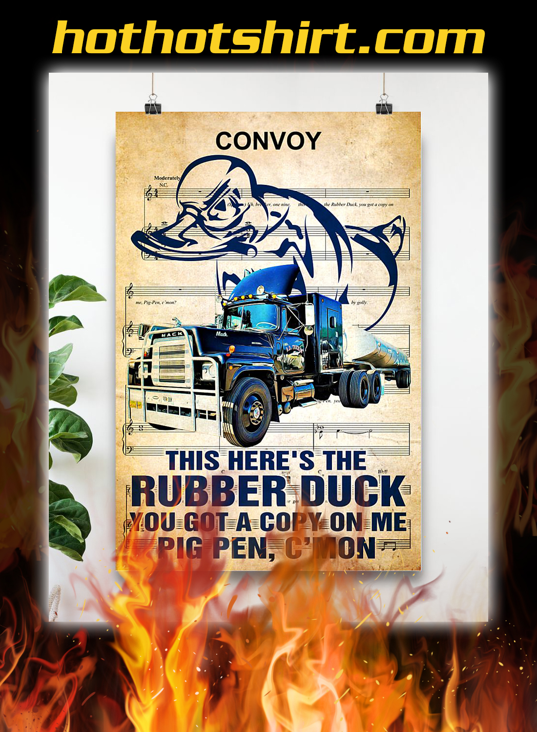 Trucker this here's the rubber duck poster 3