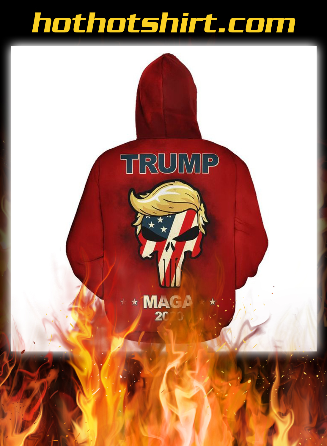 Trump maga we the people all aboard the trump train 3d all over hoodie 2