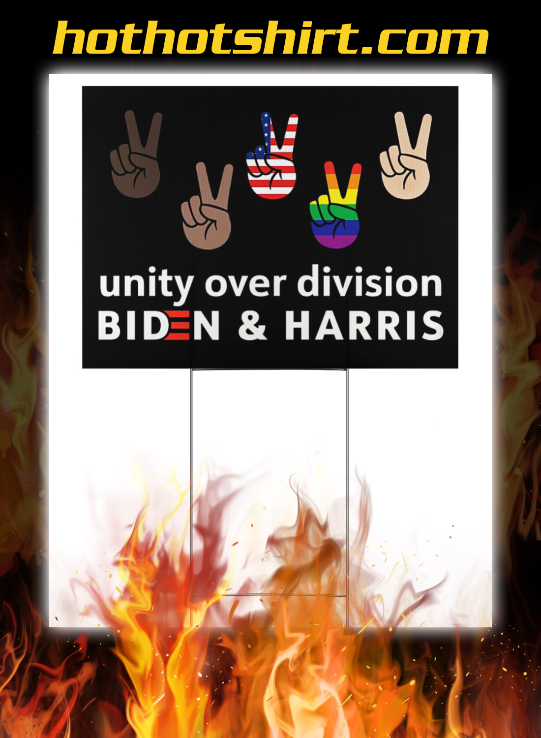 Unity over division biden and harris yard signs 1