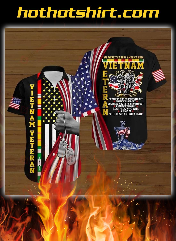 Vietnam veteran we were the best america all over printed hawaiian shirt