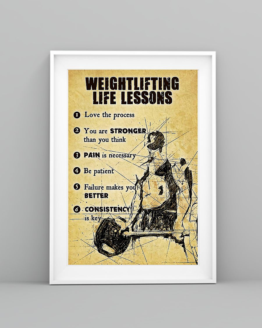 Weightlifting life lessons poster 1