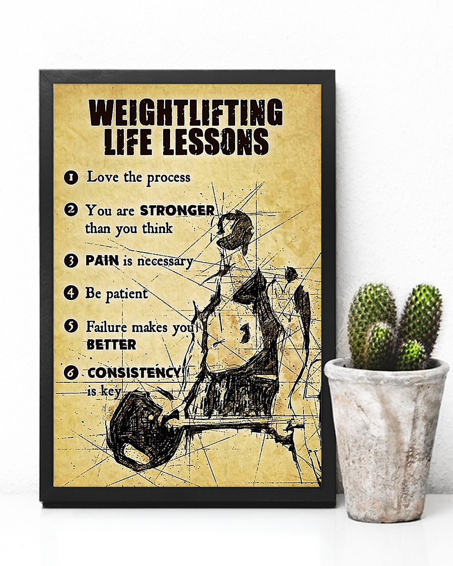 Weightlifting life lessons poster 2