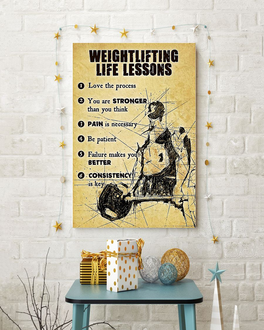 Weightlifting life lessons poster 3