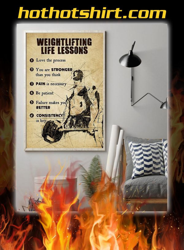 Weightlifting life lessons poster