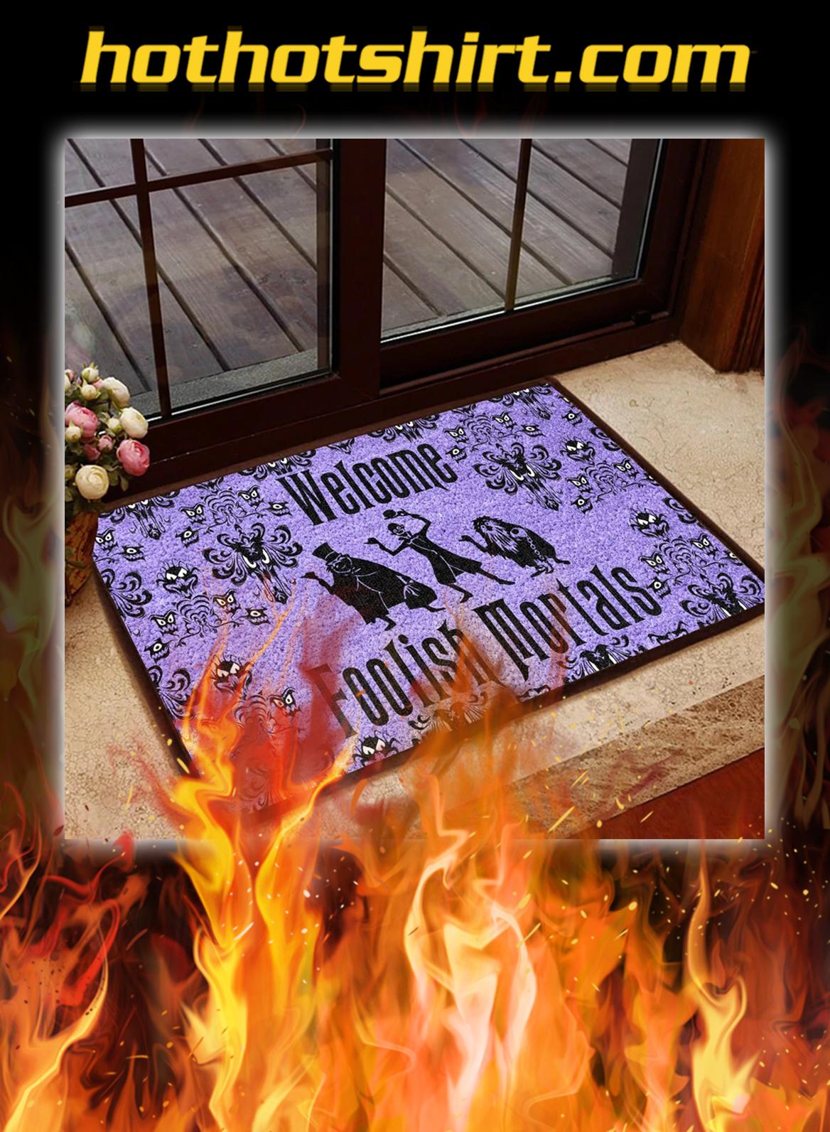 Welcome foolish mortals doormat - pic 1