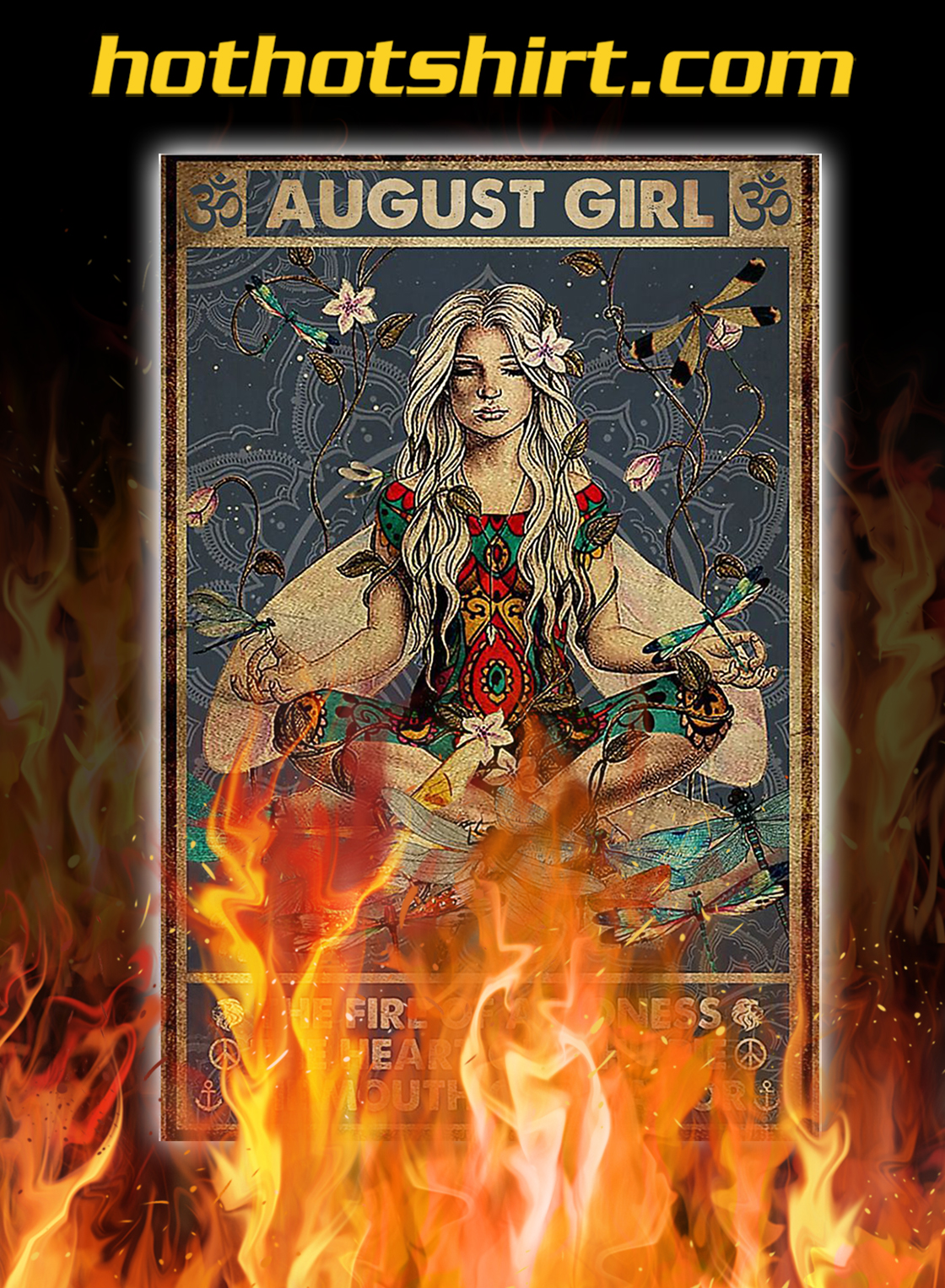 Yoga august girl the fire of a lioness poster- A4