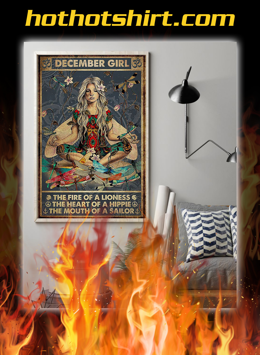 Yoga december girl the fire of a lioness poster 1