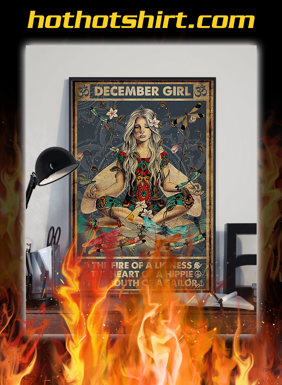Yoga december girl the fire of a lioness poster 2