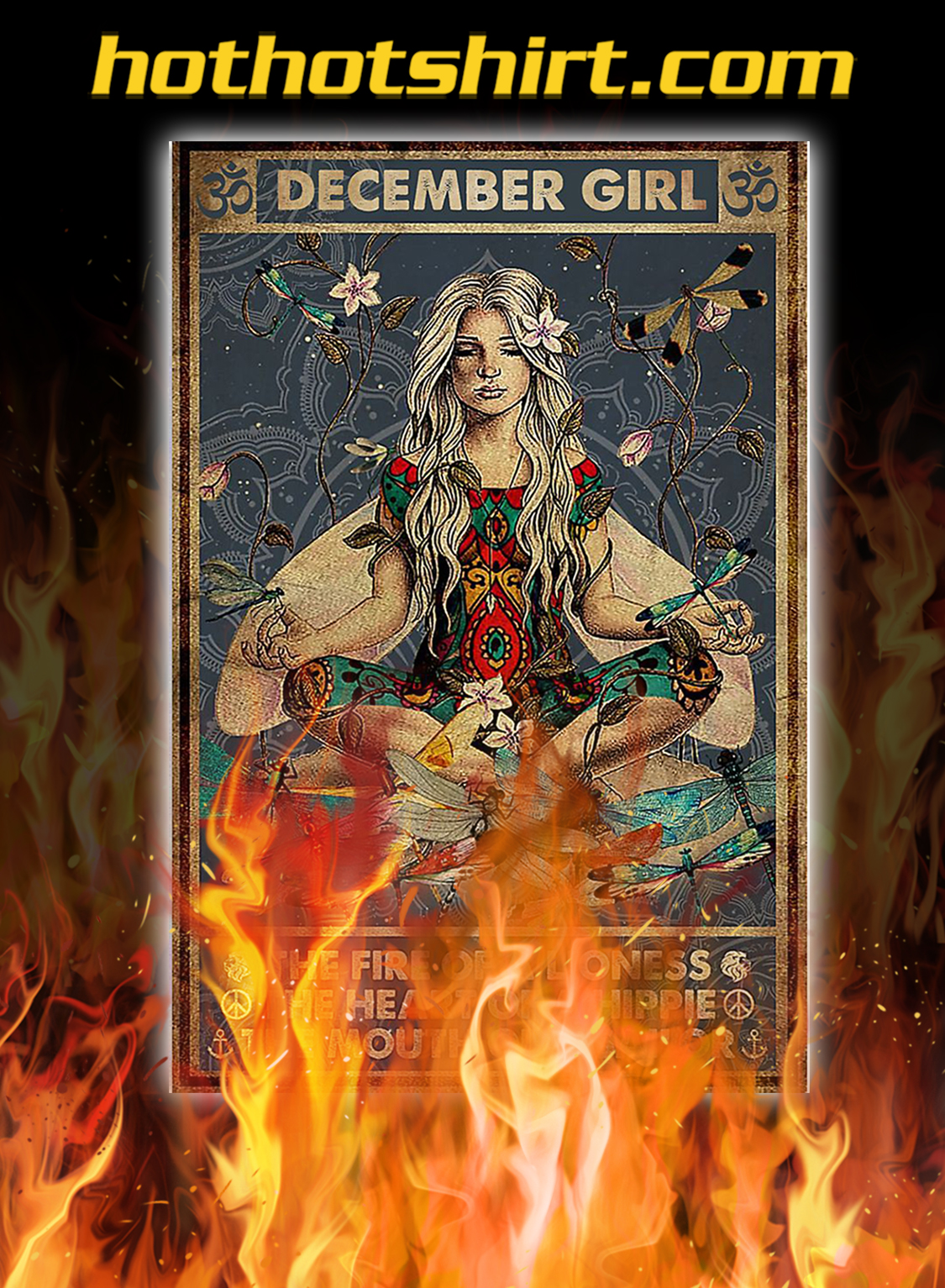 Yoga december girl the fire of a lioness poster - A3
