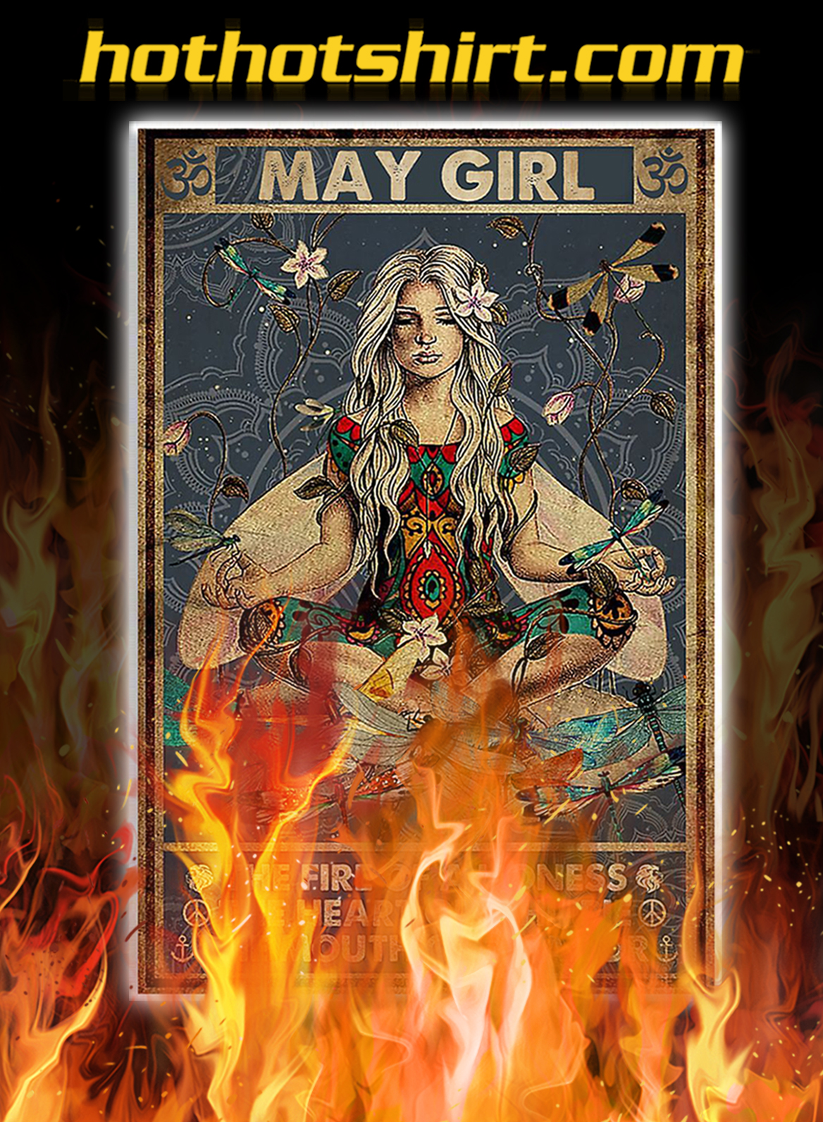 Yoga may girl the fire of a lioness poster- A1