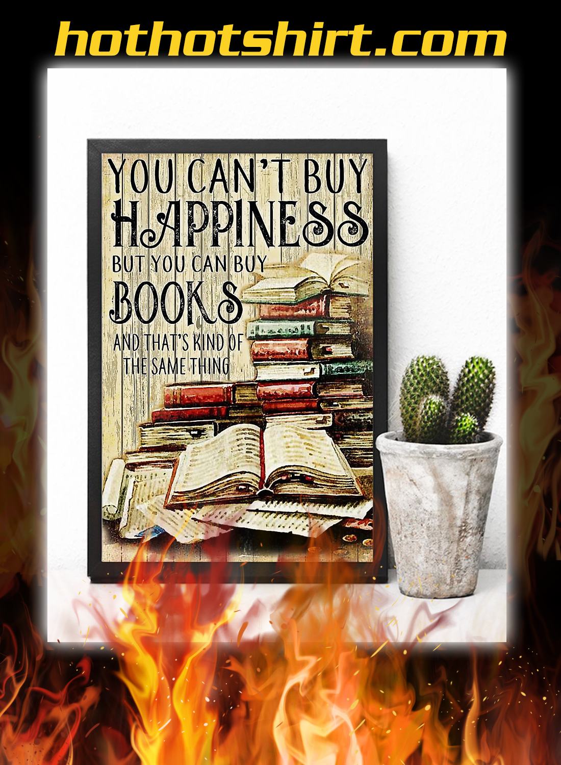You can't buy happiness but you can buy books poster 2