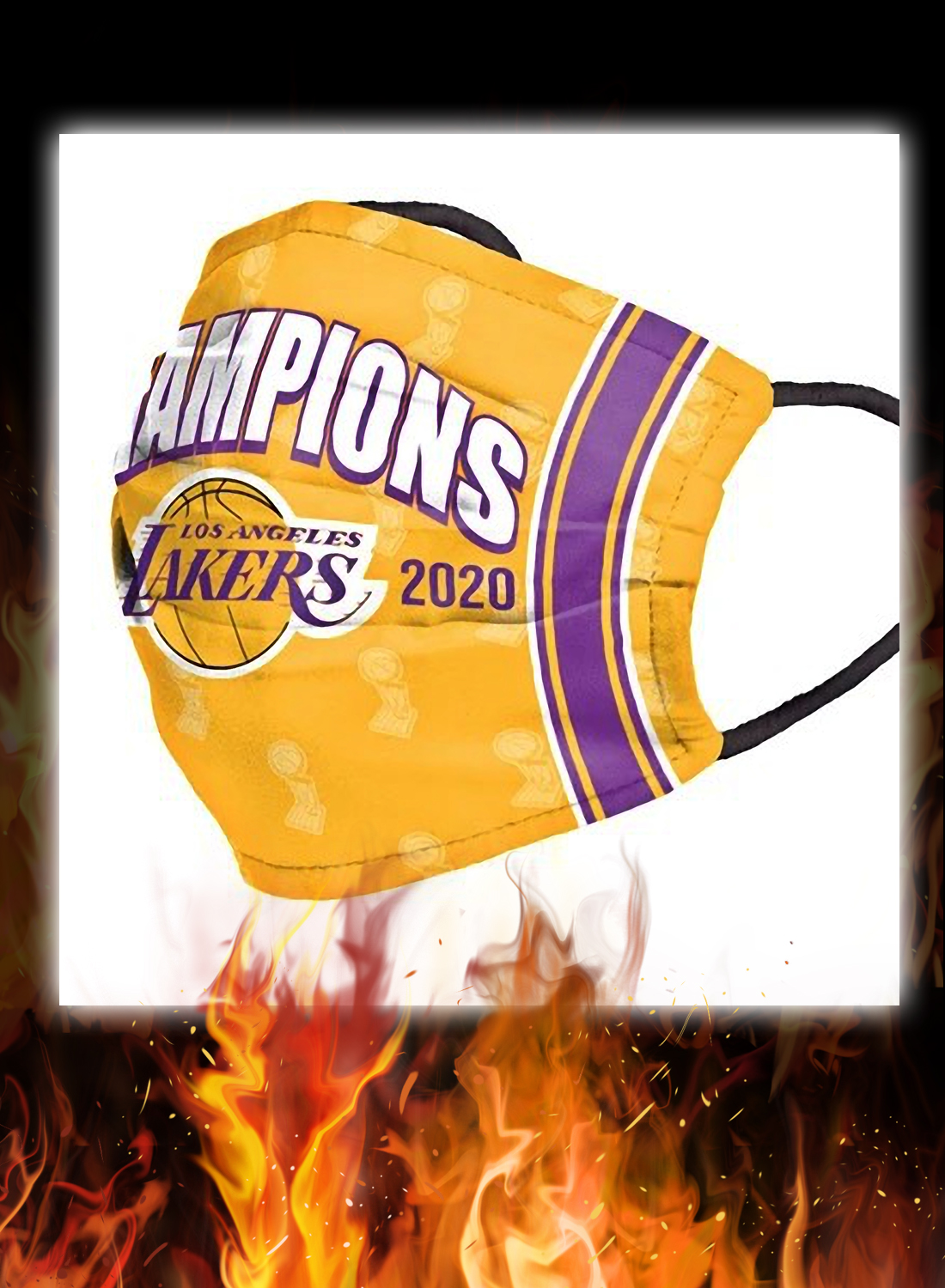 2020 NBA champions los angeles lakers face mask 1