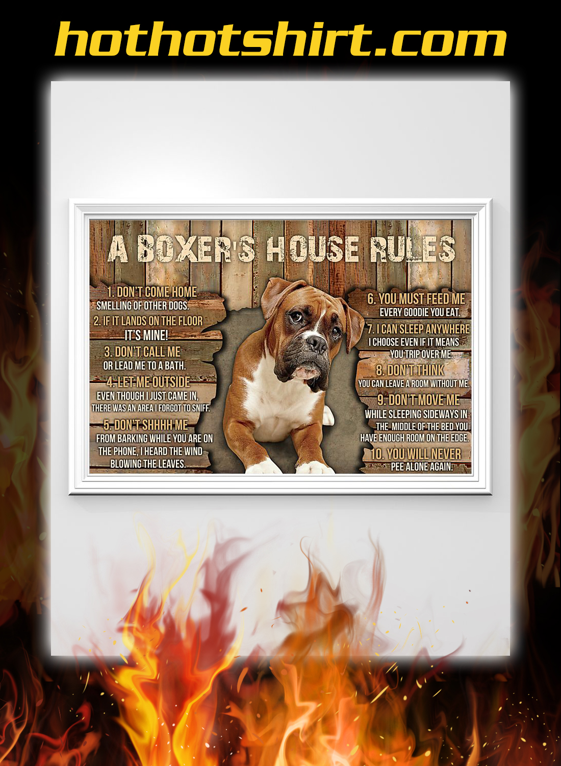 A boxer's house rules poster 1