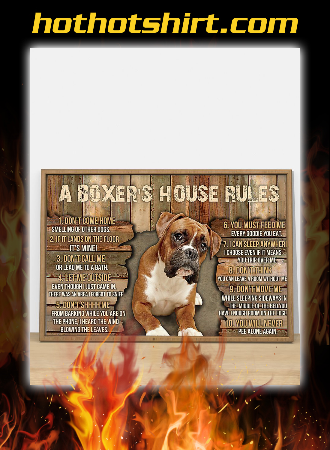 A boxer's house rules poster 2