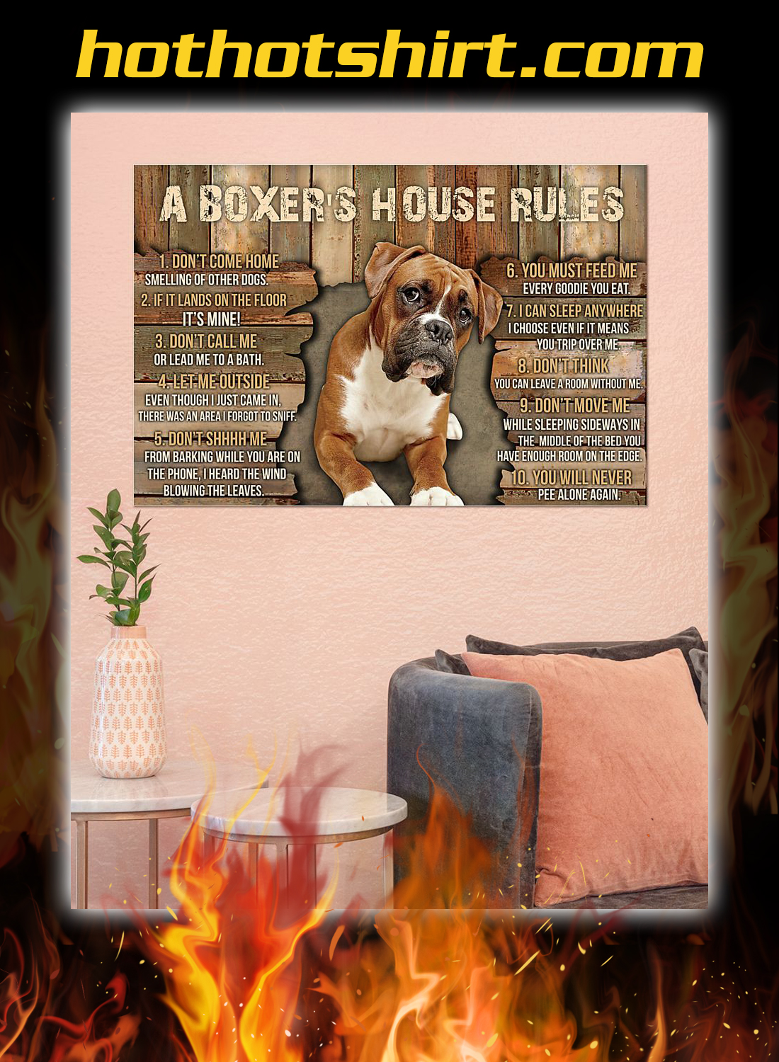 A boxer's house rules poster 3