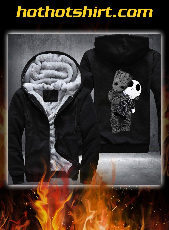 Baby groot and jack skellington fleece hoodie 1