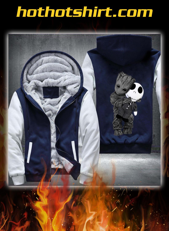 Baby groot and jack skellington fleece hoodie 2
