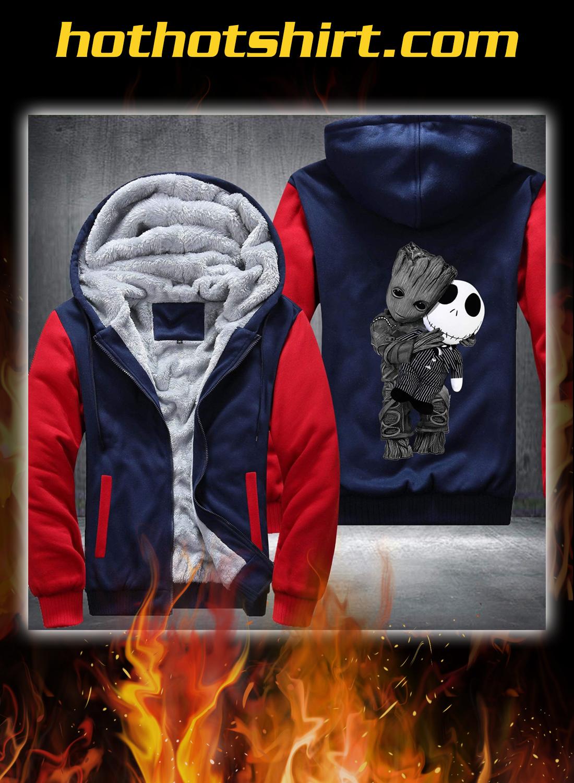 Baby groot and jack skellington fleece hoodie 3