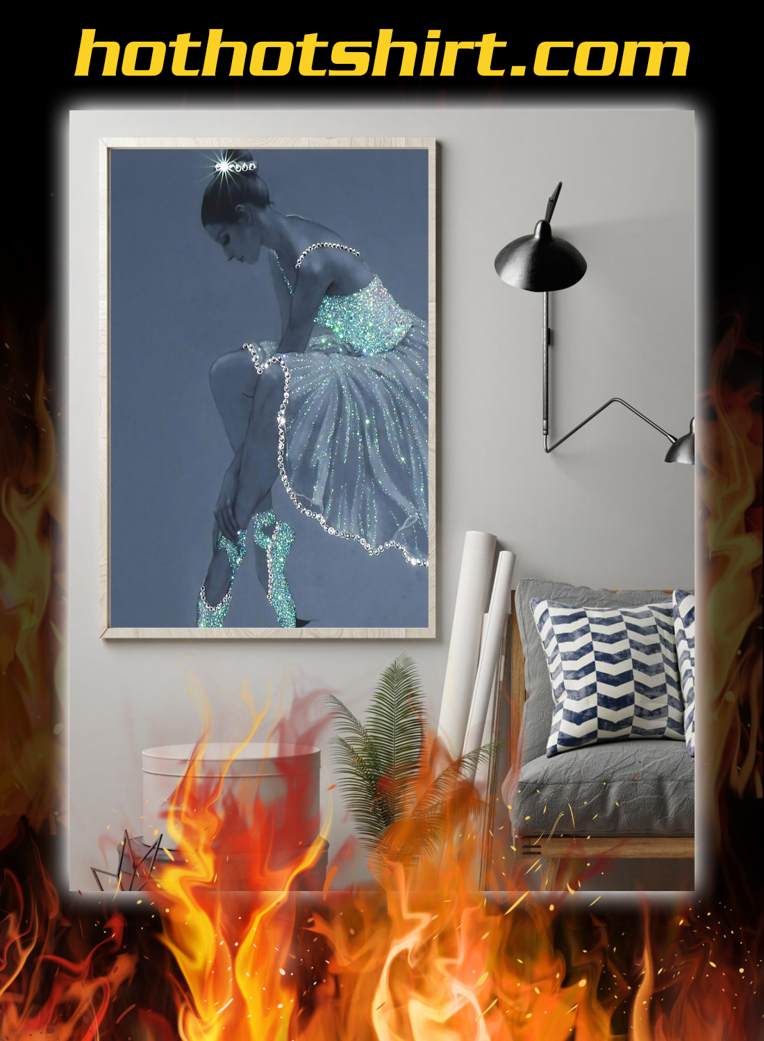 Ballet Crystal Dress Vertical Poster 1
