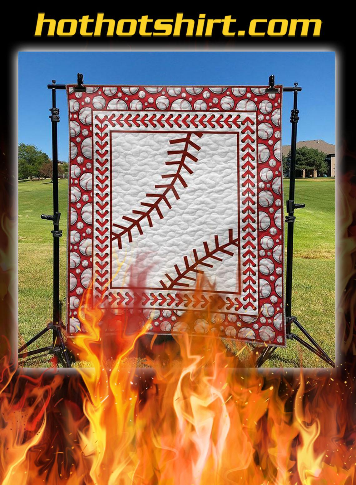 Baseball quilt blanket - queen