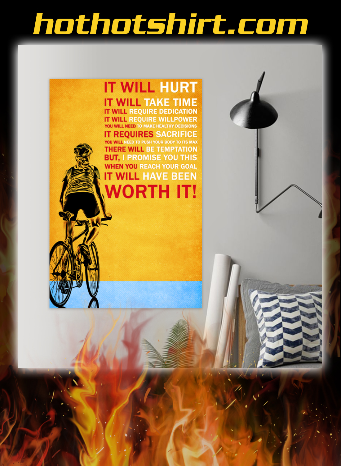 Bicycle it will hurt it will take time poster 1