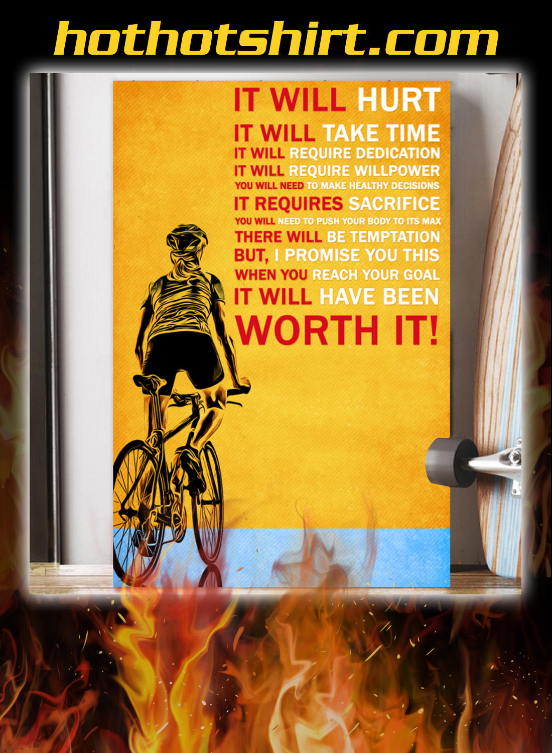 Bicycle it will hurt it will take time poster 2