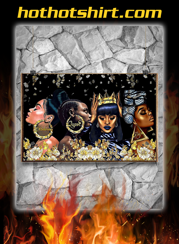 Black woman melanin queen unapologetic dope poster 2