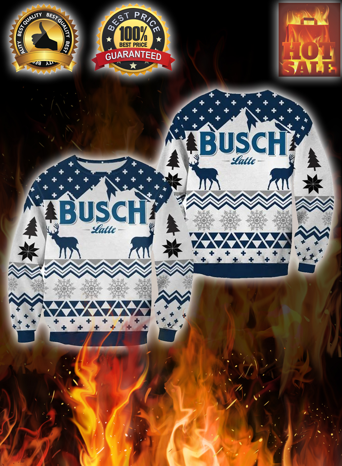 Busch latte christmas sweater 1