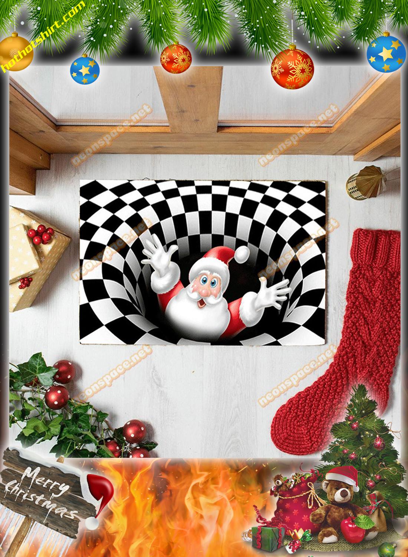 Cheer santa christmas 3D illusion doormat 1