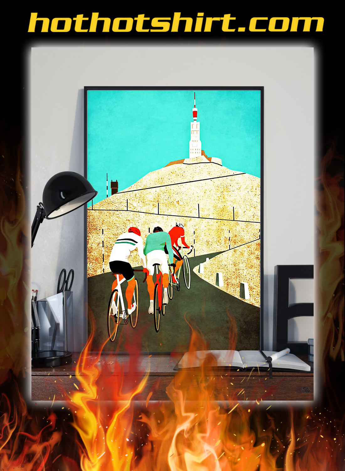 Cycling Mount ventoux poster 1