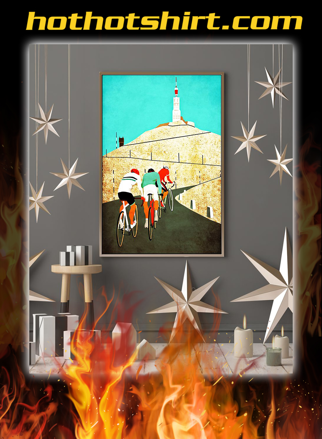 Cycling Mount ventoux poster 2
