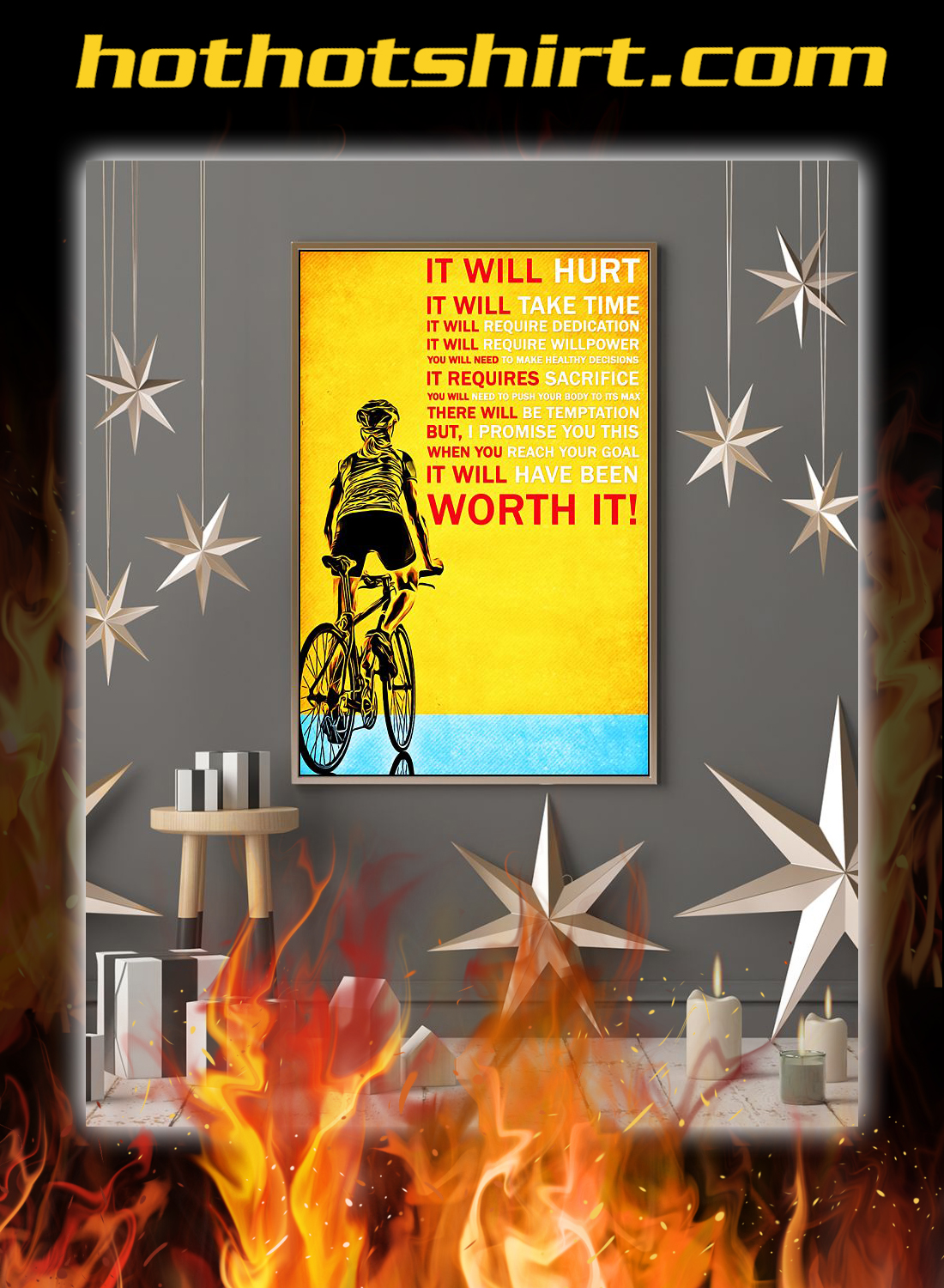 Cycling it will hurt poster 2