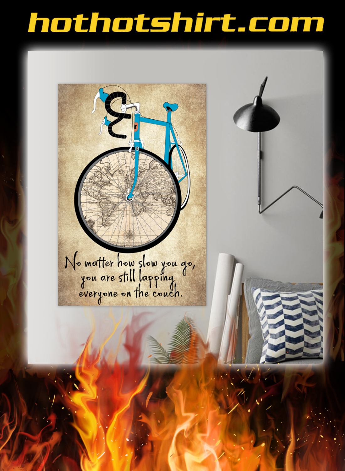 Cycling no matter how slow you go poster 1