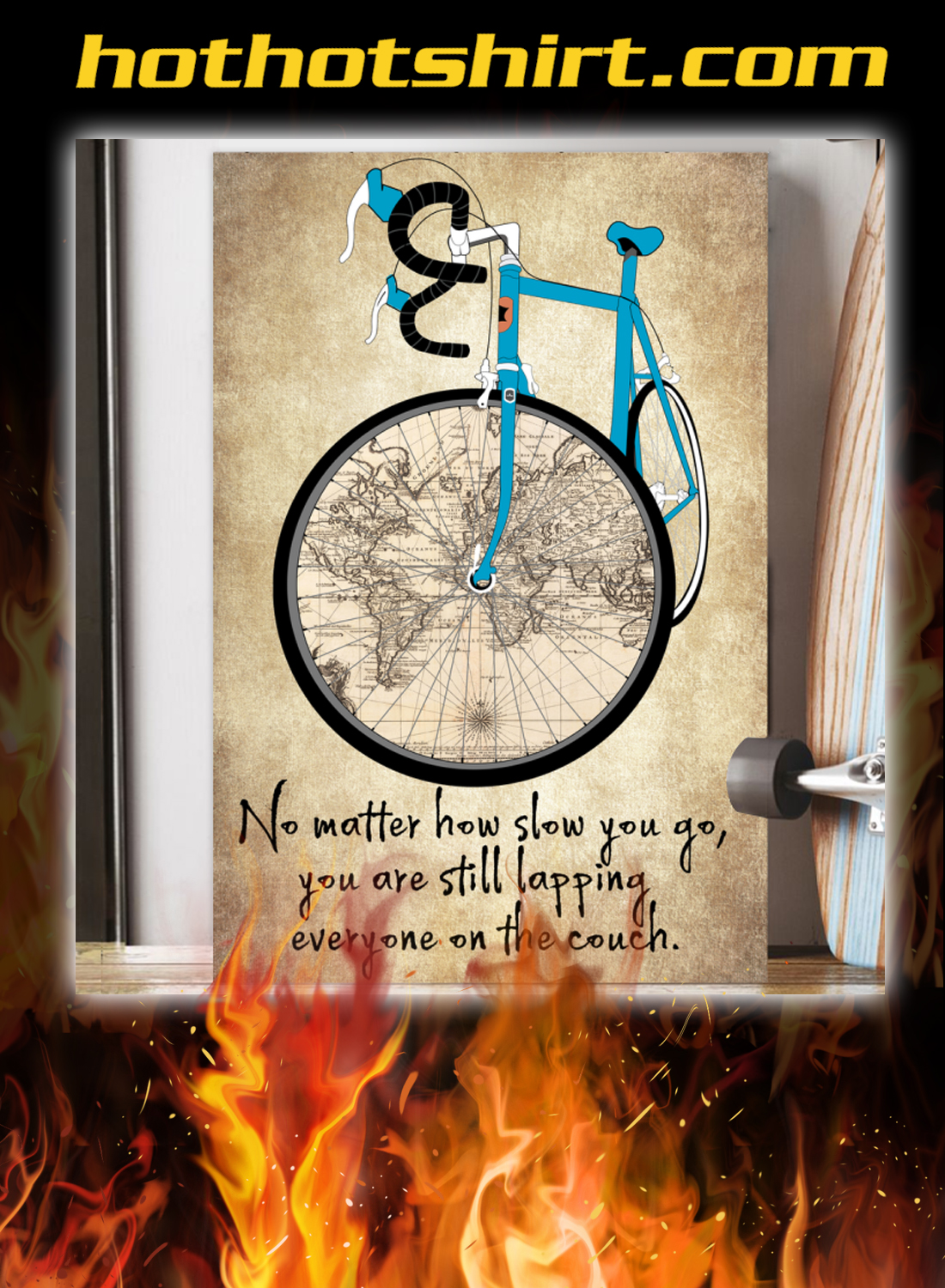 Cycling no matter how slow you go poster 2