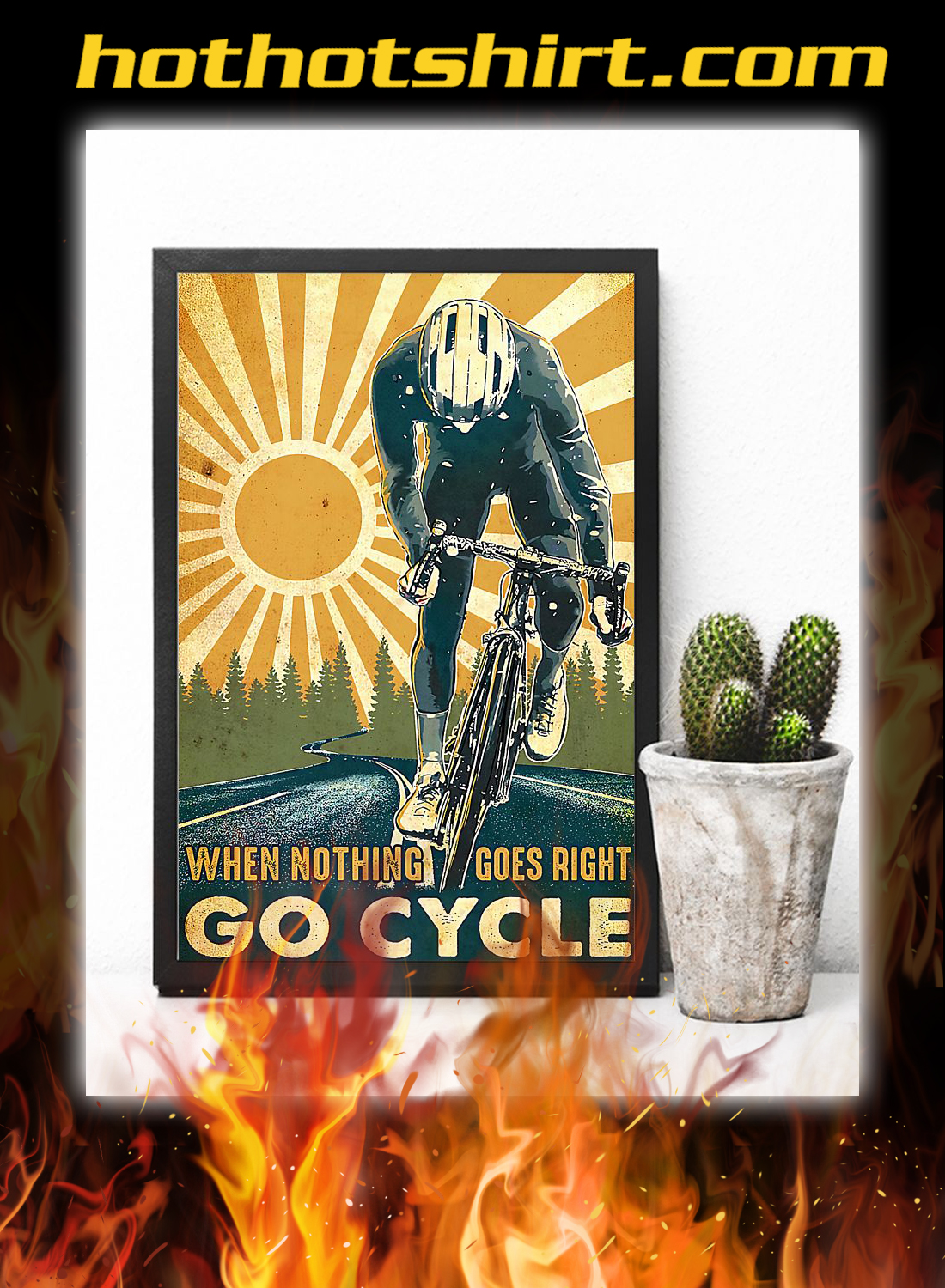 Cycling when nothing goes right go cycle poster 2