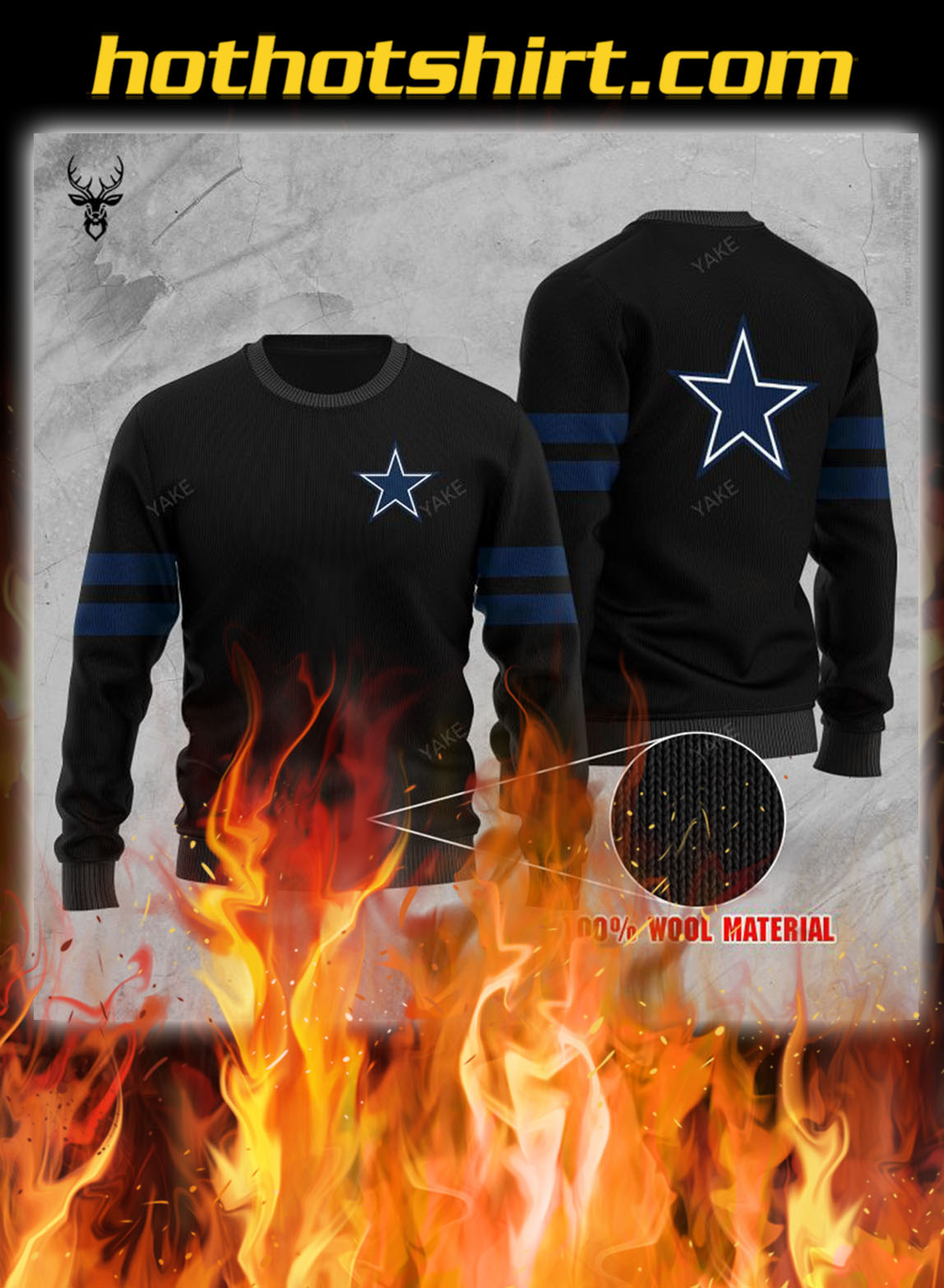 Dallas cowboys ugly christmas sweater- pic 1
