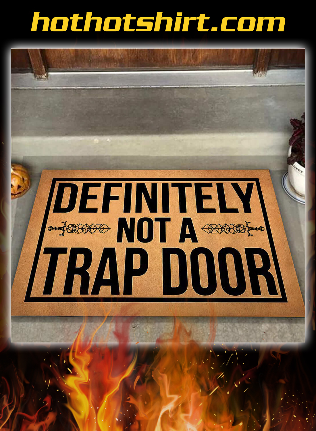 Definitely not a trap door doormat 3