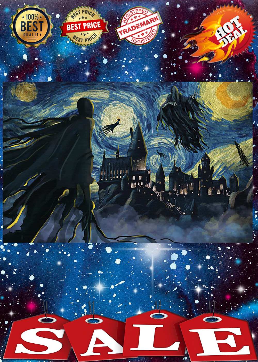 Dementor azkaban starry night poster 3