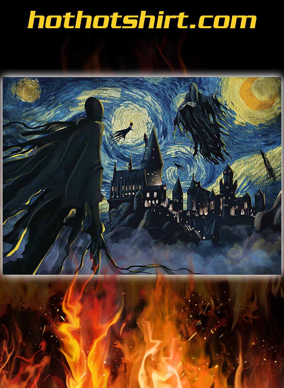 Dementor hogwarts starry night poster 1