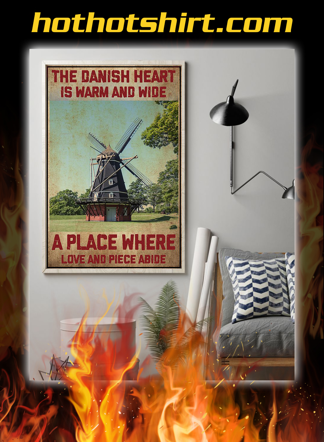 Denmark the danish heart is warm and wide a place where poster 1